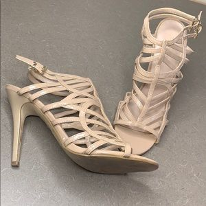 Guess Whalen Nude Strappy Heels